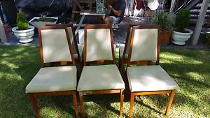 Retro dining chairs Kotara Newcastle Area Preview