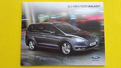 Ford Galaxy Zetec Titanium X car brochure sales catalogue June 2015 MINT MPV