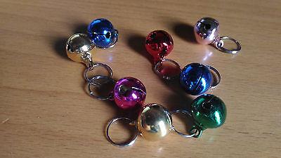 4x Cascabel de colores anilla para collar para perro gato periquito huron...
