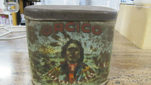 USED ORCICO TOBACCO ADVERTISING FACTORY #84 11TH DIST. OHIO TIN.
