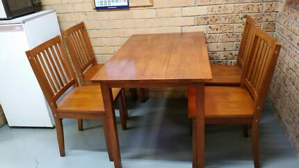 Table  and 4 Chairs - Timber