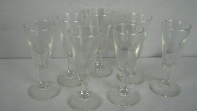 LOT of 7 ~ VINTAGE Crystal Stemmed Cordial Sherry Liquor Shot Glasses Crystal Glass Sherry Glass
