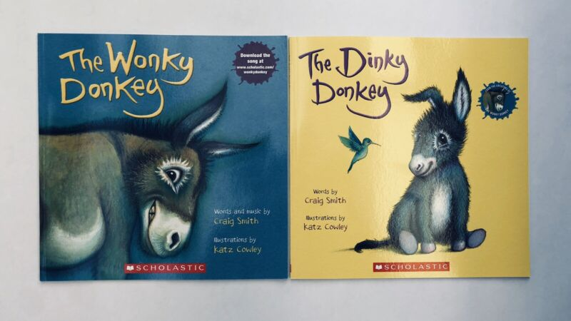 Lot 2 The Wonky Donkey + Dinky Donkey Childrens Book Bestselling World Famous!