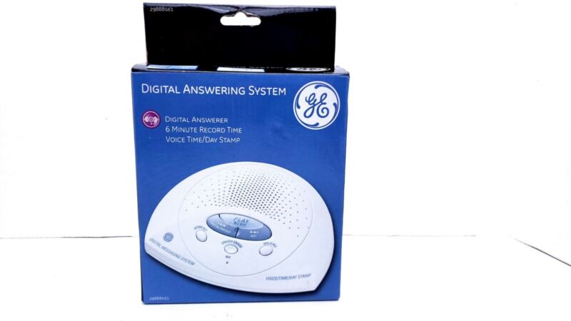 GE 29888GE1 Digital Answering System - 6 Minute Record Time,Voice Time/Day Stamp
