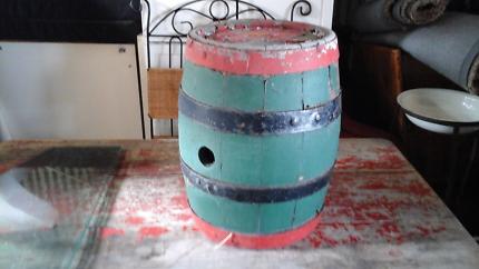 Small antique wine barrel