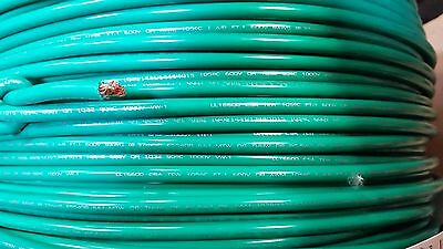 Mtw 8 Gauge Awg Green 19 Strands Copper Ground Primary Wire 150 Spool Usa Vw-1