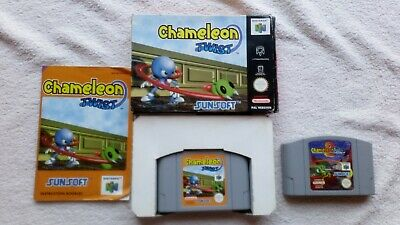 Chameleon Twist 1 BOXED + MANUAL + 2 CART ONLY Nintendo 64 N64 RARE PAL RETRO