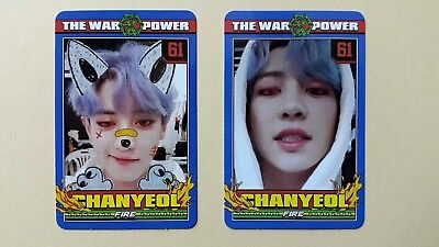 EXO The War The Power Of Music 4th Repackage Official photocard - Chanyeol set