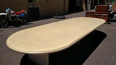 Conference Table 15 Bleached White 68x 180 Solid Wood Wedeliverlocallynorca