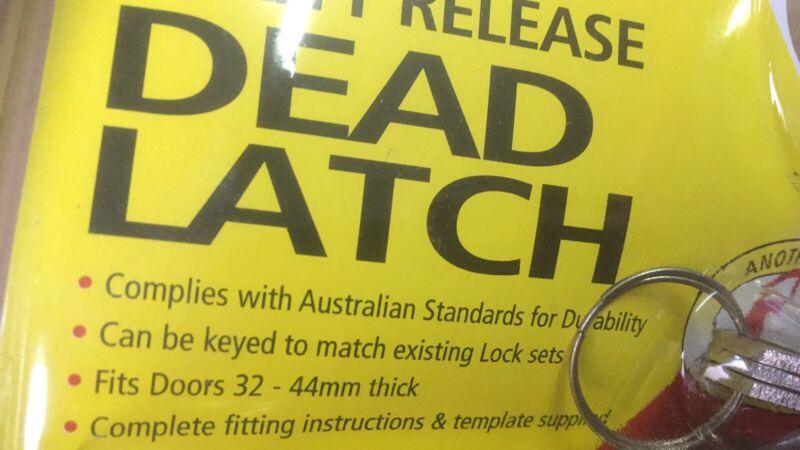 Set Of 2 Heavy Duty Dead Latch For Door Key Alike Brand