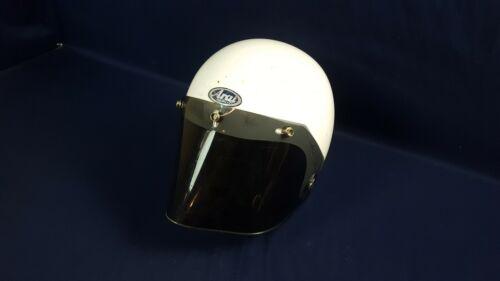Vintage Arai S-70 Bell Open Face Motorcycle Helmet 1971 Size B 57-59cm White