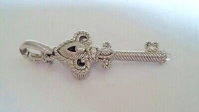 Judith Ripka Diamonique Sterling Key Pendant with Enhancer Bale