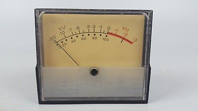 Vintage Weston 2032 Vu Meter Level Indicator Panel Mount 3-12 2-1516