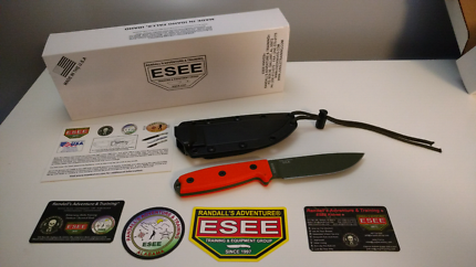 ESEE-4 OD Green Plain Edge Blade with Sheath+Belt Clip
