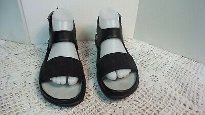 New Black Leather Women Sandals - NWOT Naot black leather/suede Strap women Sandals sz 39 Brand NEW