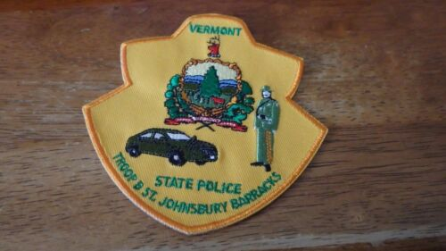 VERMONT  STATE POLICE TROOP B ST. JOHNSBURY  BARRACKS   STATE TROOPERS PATCH