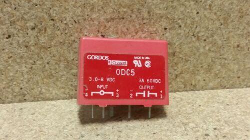 *NOS* GORDOS 0DC5 Relay Module   I: 3-8Vdc   O: 60Vdc 3A  J206
