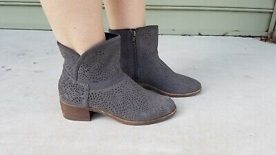UGG Women's Darling Seaweed Perforated Boots Ankle Booties Charcoal Sz US 8 - Ugg Darling