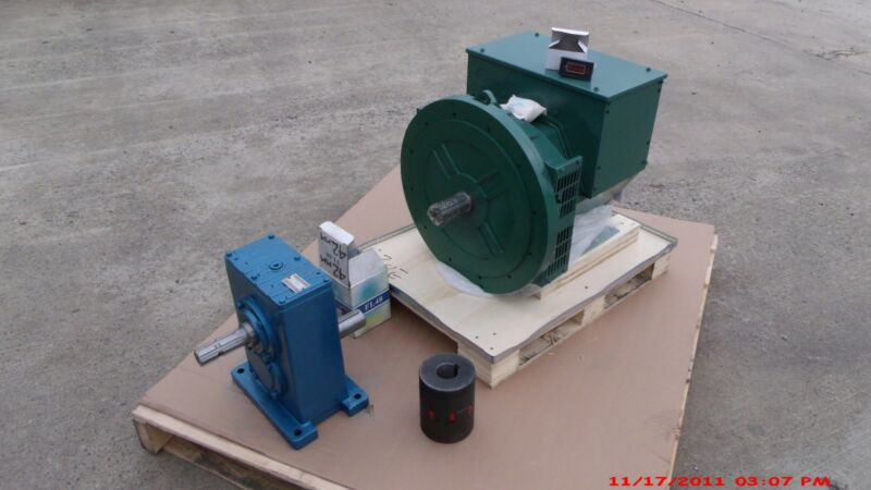 Cgg224e 50kw 1 Phase Brushless Gen/alternator, Pto Gear Box, Coupler Combo !! *