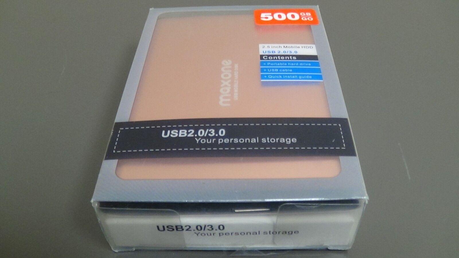 MAXONE 500GB Storage Portable Hard Drive USB 2.0/3.0 for Lap