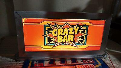 Super Cool Art Custom Art Deco Slot Machine Top Glass Light! With Top Glasses!