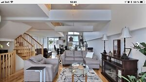 Penthouse (condo) semi-meublé à louer pour 1ier oct. ou nov. 201