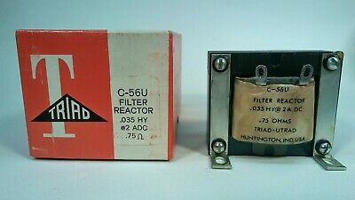 Triad Electronics C-56u Filter Reactor .035 Hy 2 Adc .75 Ohm Nos New