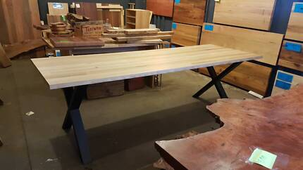Vic Ash Tas Oak Dining table Up to 2400x900 $699 inc legs