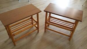 1970's Retro Cane Side Tables x 2 Barden Ridge Sutherland Area Preview