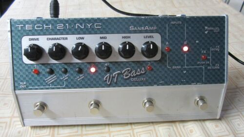TECH 21 Sans Amp VT BASS DELUXE Effects Pedal Stomp Box