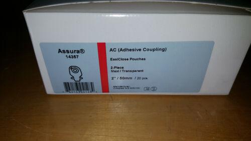 Coloplast 14357 Assura AC EasiClose Drainable Pouch, Maxi, Transparent Box20
