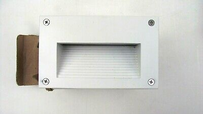 Dabmar Recessed Brick, Wall, Step White Light Fixture LV655 Cast Aluminum Cast Aluminum Step Light