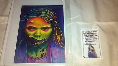 The Walking Dead Addy Miller Teddy Bear Girl 7x5 print picture Nerd Horror Block