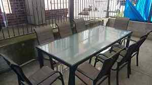Outdoors dining table set of 9 pieces Ardeer Brimbank Area Preview