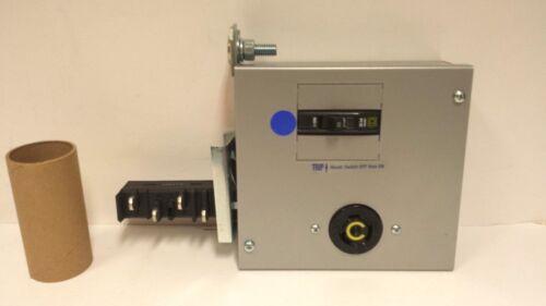 Starline Busway Cb225he12-l520-4 Tap Box, 20a 120v Breaker/twist-lock Receptacle