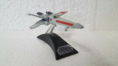 Star Wars   diecast X Wing fighter on pedestal