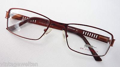De Panther sportliche Metallfassung Gestell Brille hochwertig kupfer Grösse M