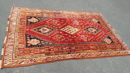 Vintage Hand Made Persian Area Rug 9 x 5.5 - Excellent Rug
