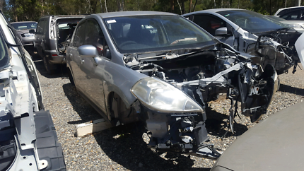 2007 NISSAN TIIDA SILVER FOR WRECKING