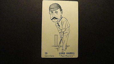 DAILY HERALD SPORTFOTO CRICKETERS No28 LORD HARRIS PAST MASTER