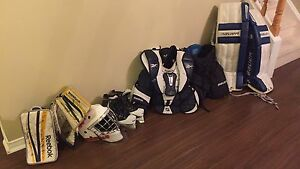 USED GOALIE PACKAGE! OVER $1500 purchased new... save money!!