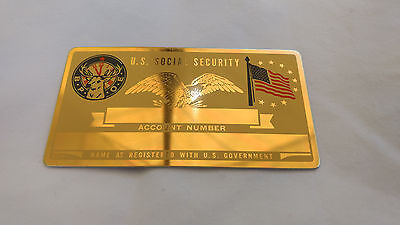 B.P.O.E Elks US Social Security Metal Card Tag NOS VTG Perma Products​
