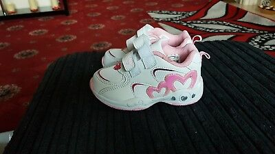 LA Gear childs trainers size 7 pink and white for sale  Leigh
