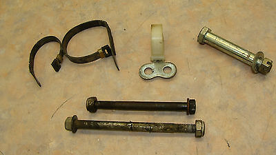 1981 YAMAHA IT 125 G OEM MOTOR MOUNT BOLTS/CABLE STAY /REAR SHOCK FASTENERS