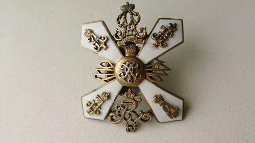 badge of the 3rd Pernov regiment Russian empire silver rare. state