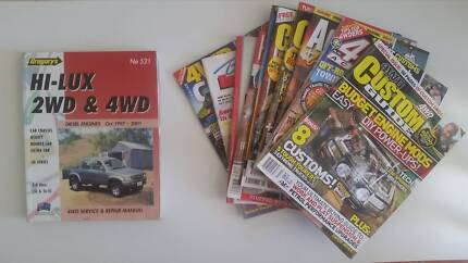 TOYOTA HILUX Diesel 2wd & 4wd 97 - 01 Book & 10 Magazines $15