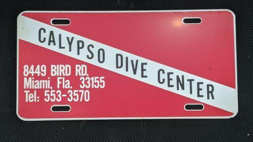 Calypso Dive Center Miami scuba shop store License Plate Souvenir 1982