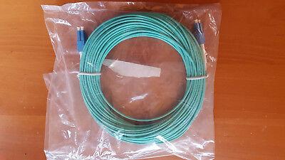 25m OM3 Aqua Fibre Optic LC LC Duplex MM 50 125 Patch LSZH Cable