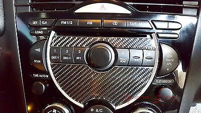 Carbon Fiber Radio Plate - UNIQUE REAL CARBON FIBER RADIO FACE PLATE DECORATIVE 04-08 MAZDA RX-8 MAZDASPEED
