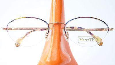 Glasses Brands Frame only Upper Edge Metal Multicolour Oval Marc o Polo Women (Us Polo Glasses)